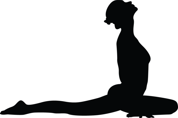 Yoga Pose Woman Chestup Silhouette
