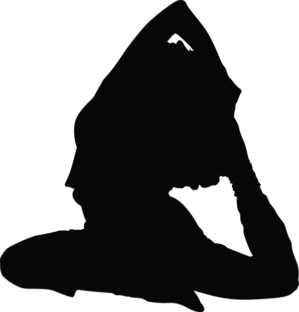 Yoga Pose Woman Leg Stretch Silhouette