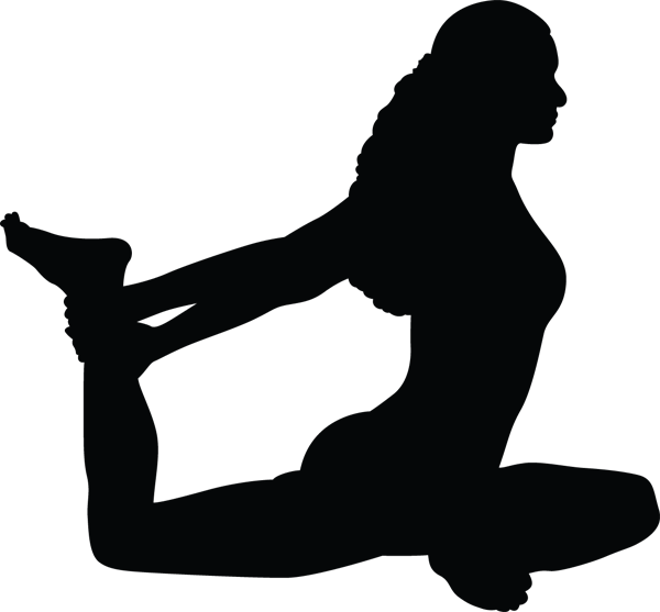 Yoga Pose Woman Legs Behind Back Silhouette