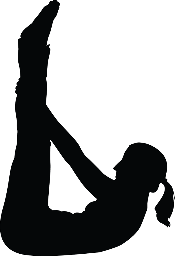 Yoga Pose Woman Legs In Air Silhouette