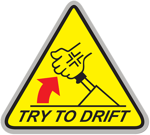 Try To Drift Printed Sticker