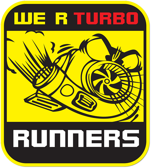 We R Turbo Runners Printed Sticker