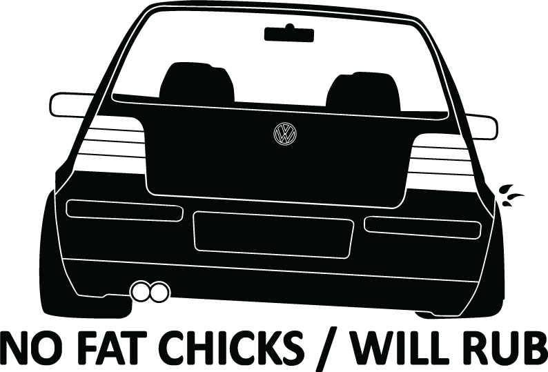 No Fat Chicks Will Rub