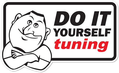 Do It Yourself Tuning Printed Sticker