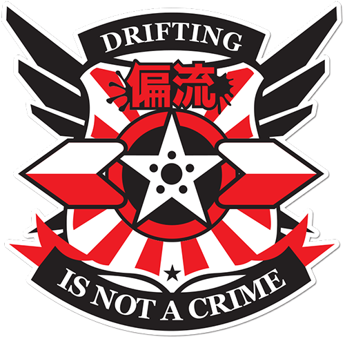 Drifint Is Not A Crime Printed Sticker