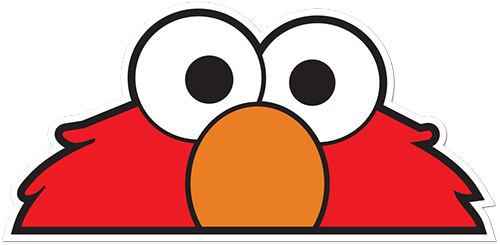 Elmo Printed Sticker