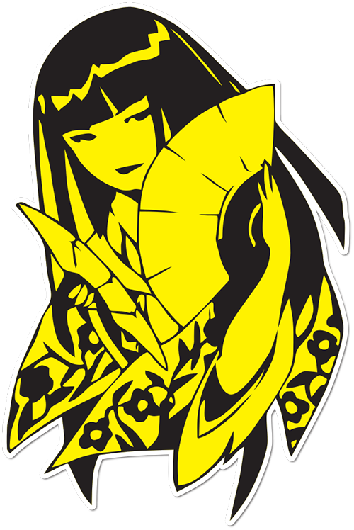 Fan Geisha Printed Sticker