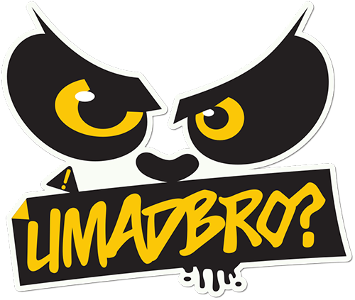 U Mad Bro Printed Sticker
