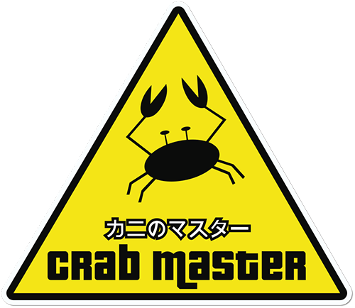 Crab Master Printed Sticker