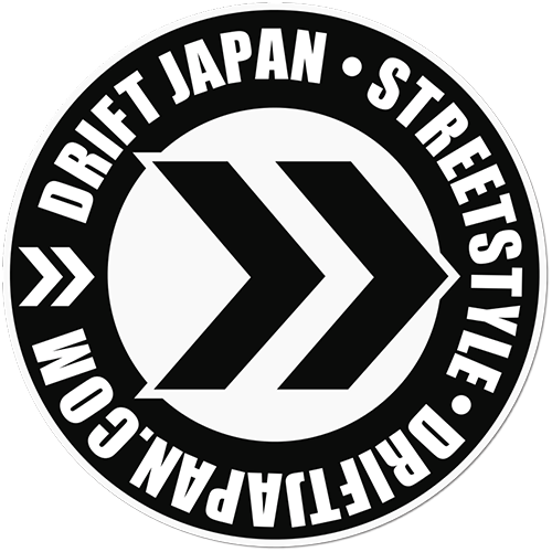 Drift Japan Monochrome Printed Sticker