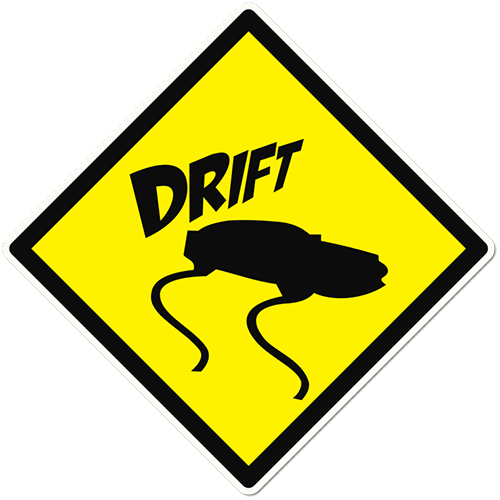 Drift Sign Printed Sticker