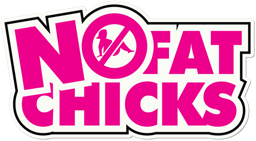 No Fat Chicks Printed Sticker