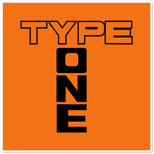 Type One Printed Sticker