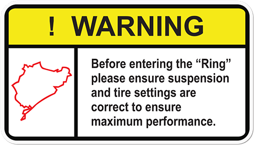 Warning Ensure Maximum Performance Printed Sticker