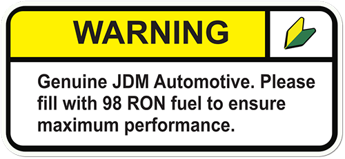 Warning Genuine Automotive Printed Sticker