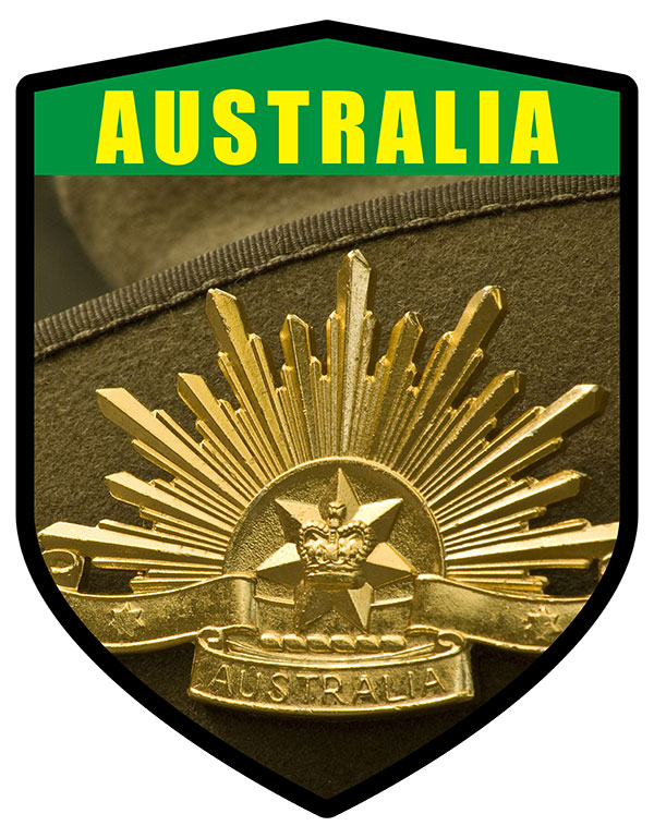 AU Rising Sun Badge