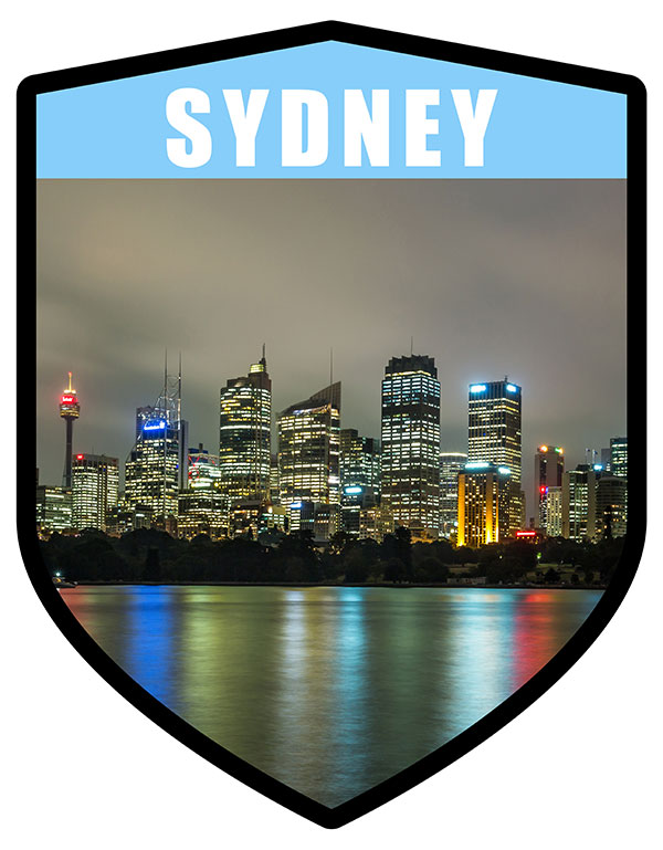 NSW Sydney City Shield Night Skyline