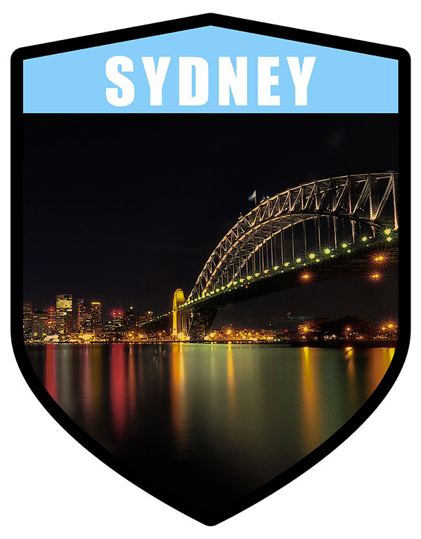NSW Sydney City Shield Sydney Harbour Bridge Night
