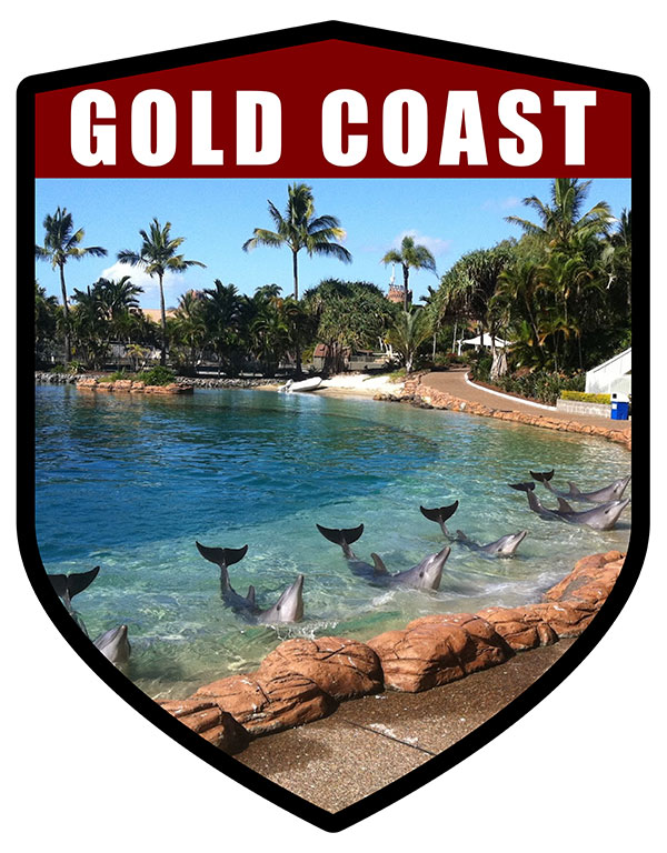 QLD Shield Gold Coast Seaworld Dolphins