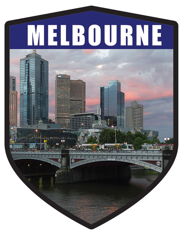 VIC Melbourne City Shield Melbourne River Bridge