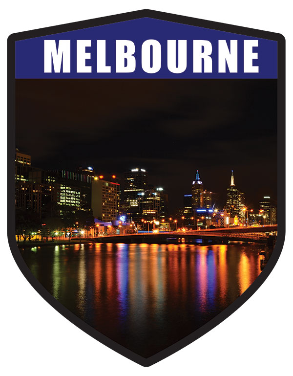 VIC Melbourne City Shield Night Skyline