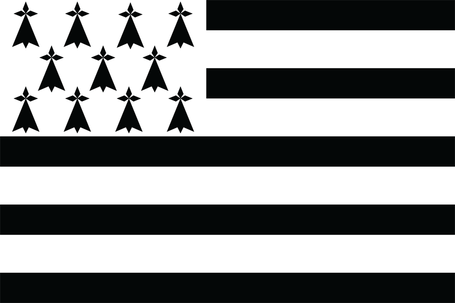 France Brittany - Flag