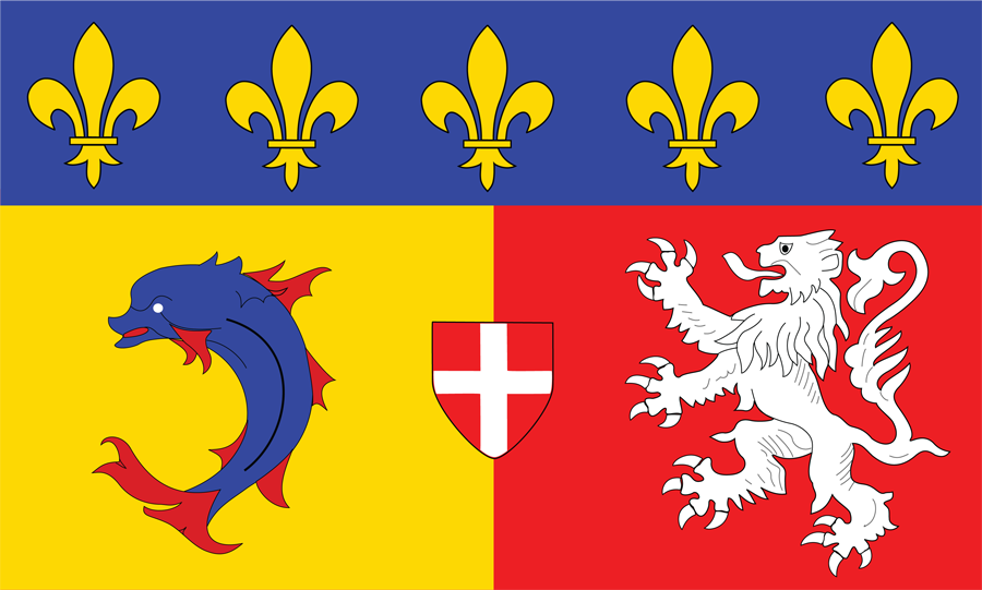 France Rhone Alpes - Flag