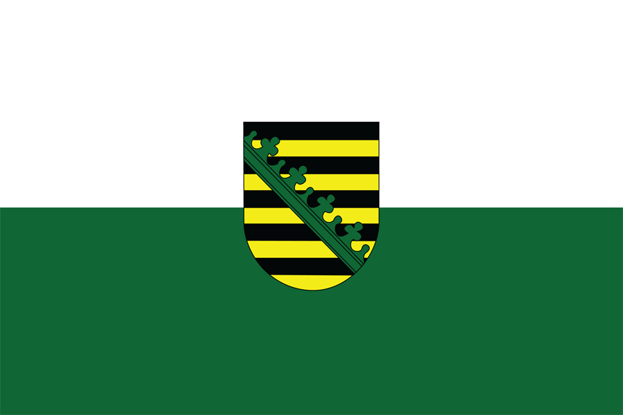 Germany Saxony - Flag