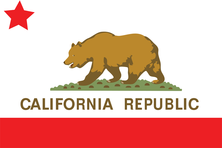 USA California - Flag