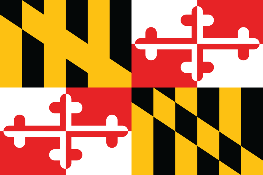 USA Maryland - Flag