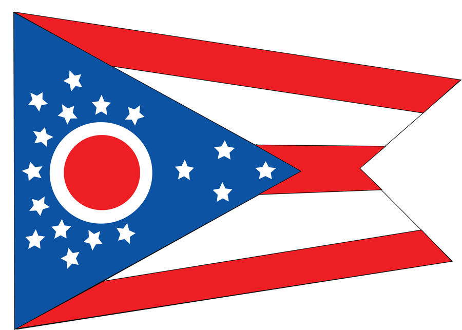 USA Ohio - Flag