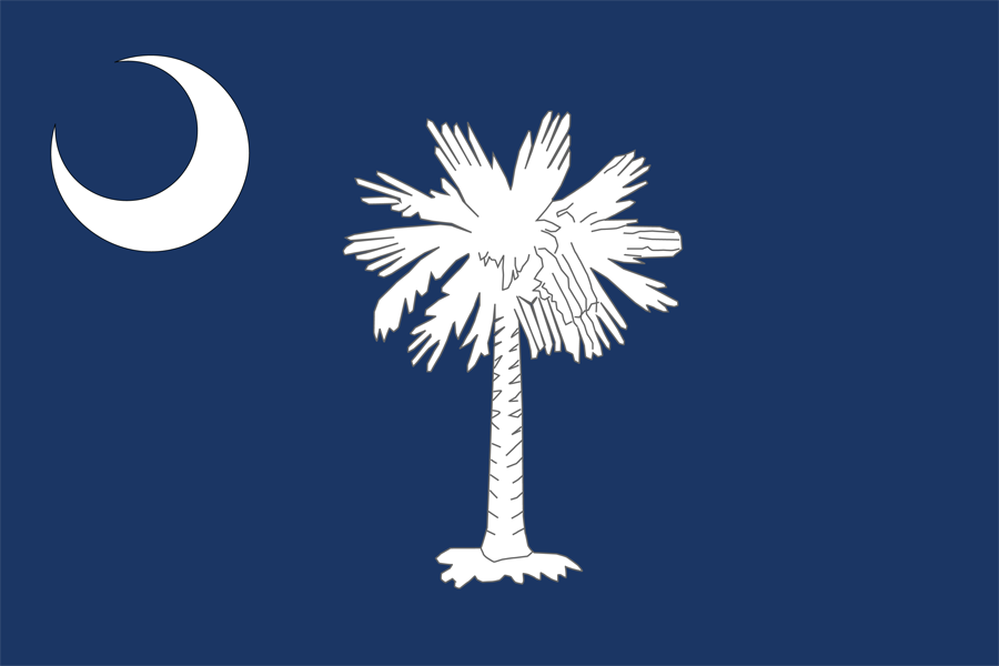 USA South Carolina - Flag