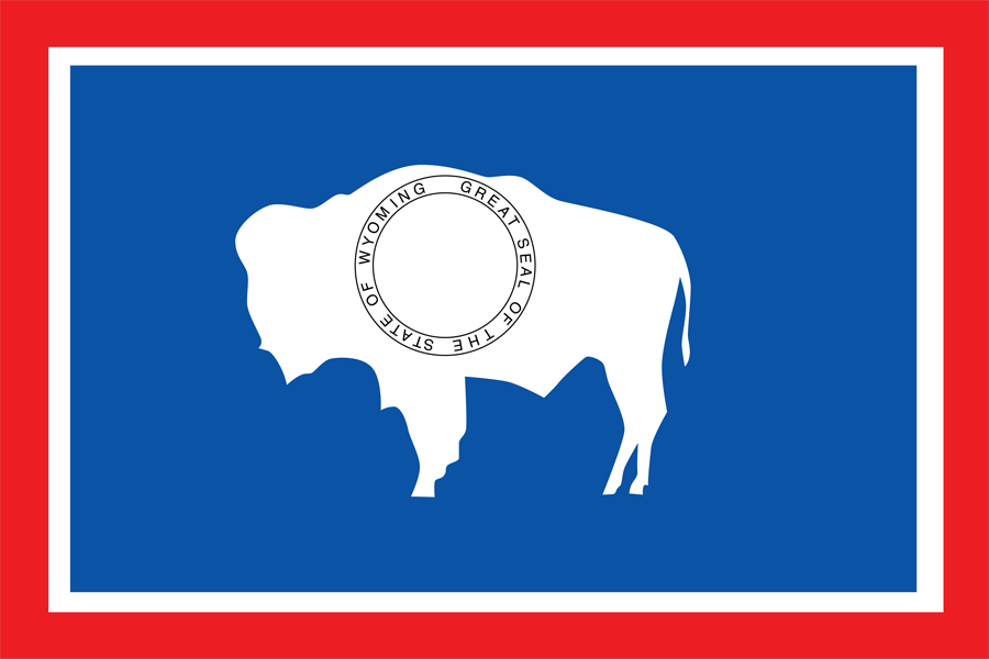 USA Wyoming - Flag