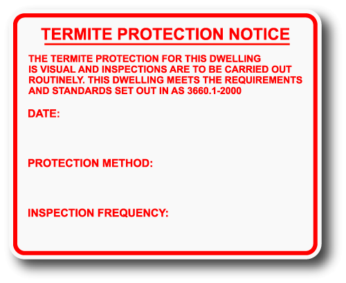 Buy Termite Protection Notice Outdoor And Indoor Use