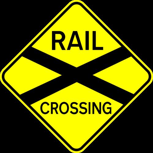 Buy Traffic Signs Rail Crossing Stickerart Com Au