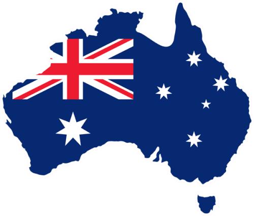 Buy Australia Shape Aussie Flag The Art Of Stickers
