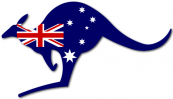 Kangaroo with Australian Flag