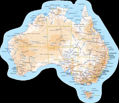 Buy Map Of Australia Premium Sticker The Art Of Stickers