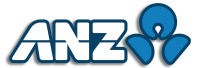 ANZ Logo with Coloured Outline