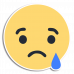 Facebook Reaction Sad with Outline