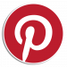 Pinterest Icon Logo with Outline