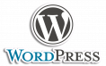 WordPress Stacked Logo with Outline