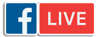 Facebook Live Logo with Outline