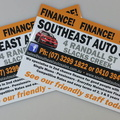 20170424 custom printed southeast auto sales finance stickers