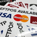 2016 11 eftpos available visa mastercard printed stickers pos