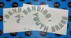 Custom Vinyl Cut Bendigo Youth Brass Lettering Sticker Decal
