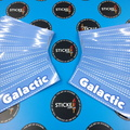 Custom Printed Glactic Sticker Decals