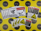 Custom Printed Safety Warning Stickers Signage