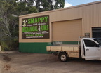 Snappy Happy Mobile Mechanics Custom ACM Sign Wide Shot