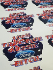 Catalogue Printed 100% True Blue Aussie Ford Bitch Stickers